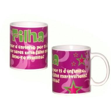 """Caneca """"Filha"""""""