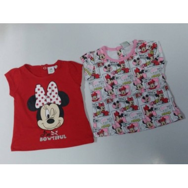Conjunto 2 - T-Shirt Minnie Mouse