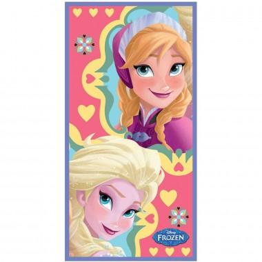 Toalha de praia Elsa e Anna - Frozen Disney