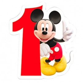 Vela de Aniversário Mickey Mouse - N.º 1