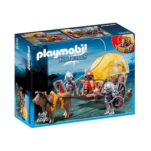 Playmobil - Carroça dos Cavaleiros do Falcão com Refúgio