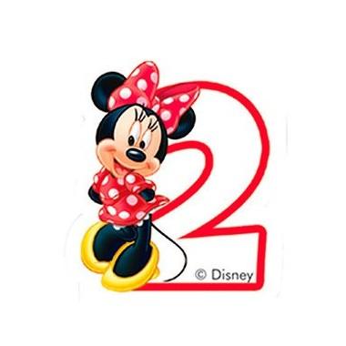 Vela de Aniversário Amigos Mickey Mouse - N.º 2