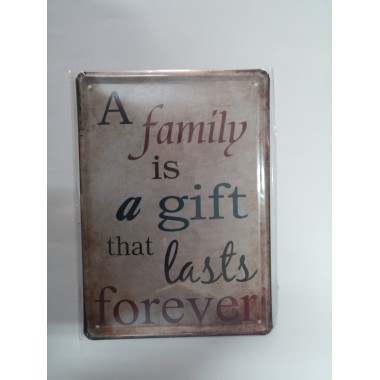 Placa de Metal Decorativa - 21x15 - A Family.....