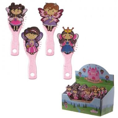 Escova de cabelo - Fadas Princesas