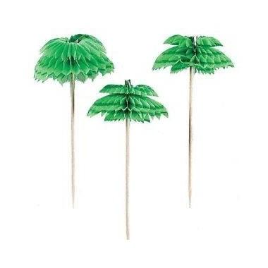 Set 12 palitos pailmeira para festa - Hawai