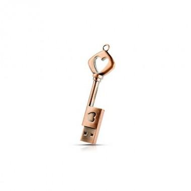 MEMORIA USB CHAVE CORAÇÃO - 4 GB