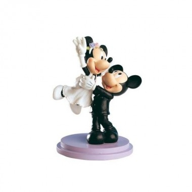 Noivos Mickey & Minnie - Topo de bolo