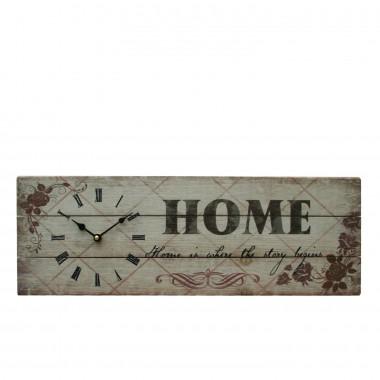 Quadro / Placa de Madeira Decorativa Relógio - 20 x 60 cm
