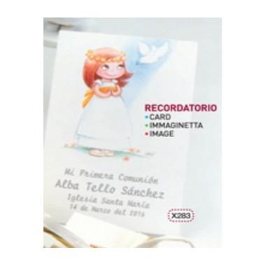 Cartão / Pagela - Menina Comunhão