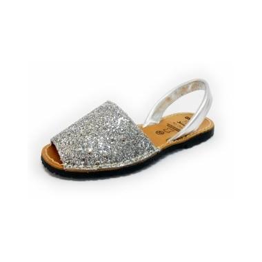 Menorquinas Adulto - Glitter Prata