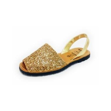 Menorquinas Adulto - Glitter Ouro