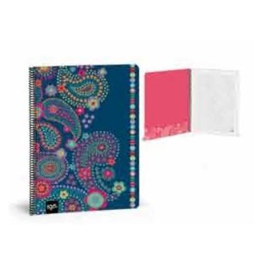 Caderno Argolas Pautado A4 - Busquets - Blue Kashmir