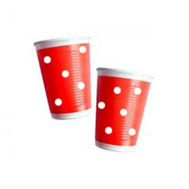 Copos de plástico bolinhas- 200 ml