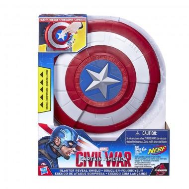Escudo com Lançador Nerf  - Capitão América