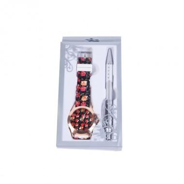 Relógio Floral em caixa de oferta