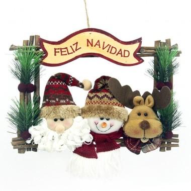 Pendureza de porta -  FELIZ NATAL com Boneco de neve