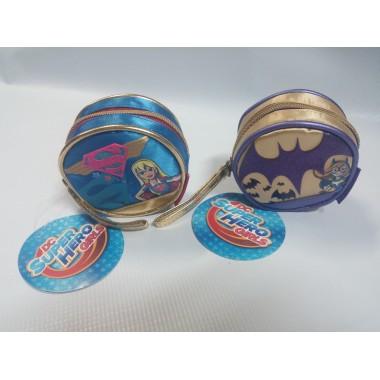 Porta moedas redondo  Super Hero Girls - Batman - Super Mulher