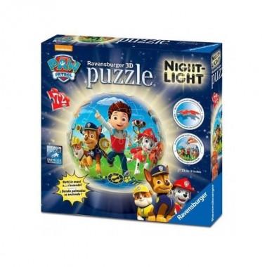 Puzzle 72 peças 3D NIght Light - Patrulha Pata - Ravensburger