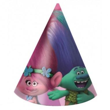 Embalagem c/ 6 chapéus - Trolls