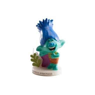 Vela de Aniversário 3D - Trolls - Branch