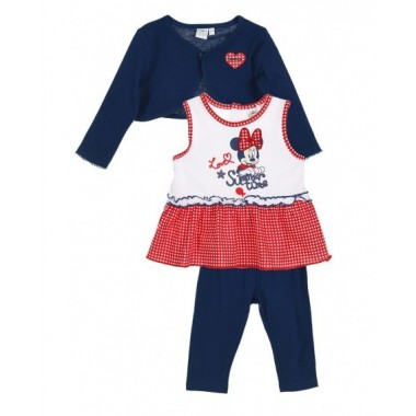 Conjunto Casaco + T-shirt + Legging Bebé -  Minnie Mouse