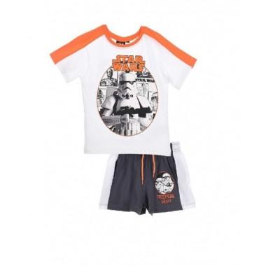Conjunto de T-shirt + calção - Star wars