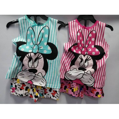 Conjunto Top + Calção - Minnie Mouse