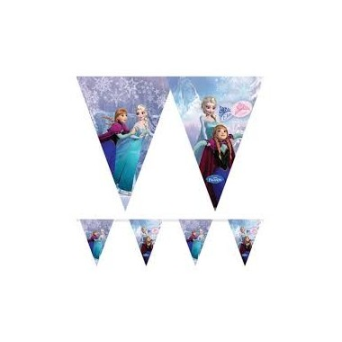 Bandeiras Triangulares - Frozen