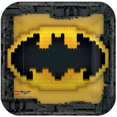 Pratos quadrados Lego - 23 cm