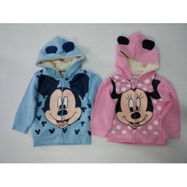 Casaco com carapuço Minnie / Mickey Bebé