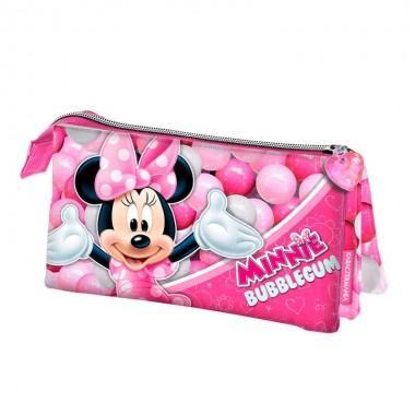 Estojo triplo Minnie Disney Bubblegum