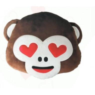 Almofada Emoji Macaco 3 sentidos corações