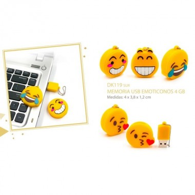 PEN / MEMORIA USB EMOJI / SMILE - 4 GB