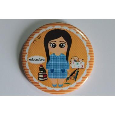 Crachá/Pin Personalizado - Educadora