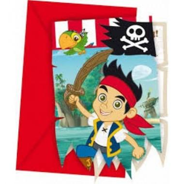 Convites - Jake e os Piratas