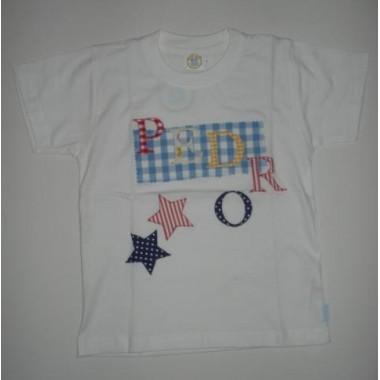 T-Shirt Patchwork Pedro - 6 anos