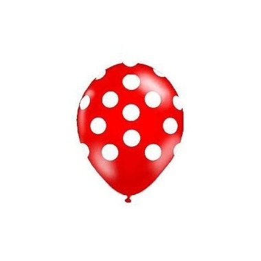 """Balões """"Polka"""" c/ bolinhas - 5 unidades"""