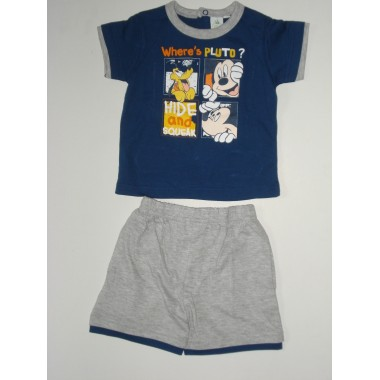 Conjunto -T-Shirt + Calção - Mickey Mouse