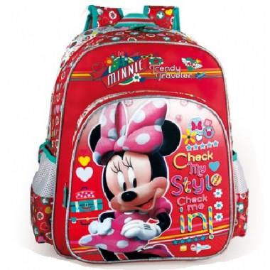 Mochila Escolar adaptável a trolley - Minnie