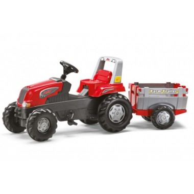 Tractor rollyJunior com atrelado FarmTrailler
