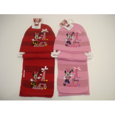 Gorro + Cachecol  - Minnie Mouse