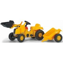Tractor rollyKid com atrelado e Pá Carregadora