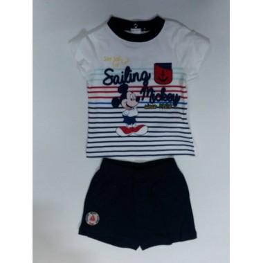 Conjunto -T-Shirt + Calção Bebé - Mickey Mouse