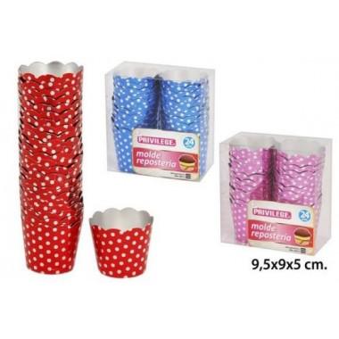 Embalagem de 24 formas - Brilhantes às bolinhas