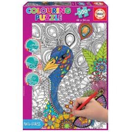Puzzle 300 peças - Puzzle para colorir - Educa