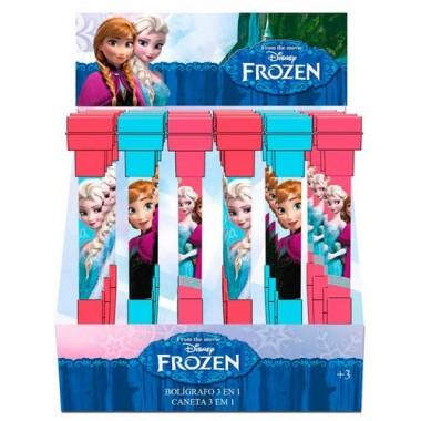 Caneta / Esferográfica 3 em 1 - Frozen