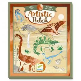 Adesivo Artístico Metálico – Dinossauros - Djeco