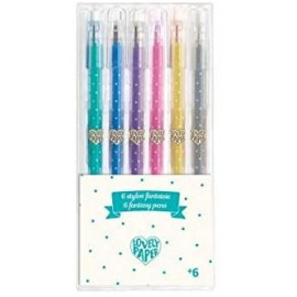 6 canetas de gel purpurina Lovely Paper - Djeco