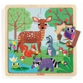 Puzzle de Madeira - Animais da Floresta - Djeco