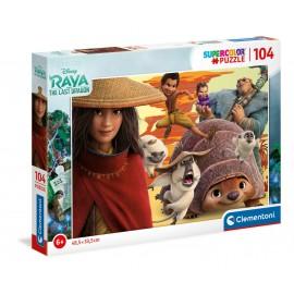 Puzzle RAYA e o último dragão - Clementoni - 104 peças